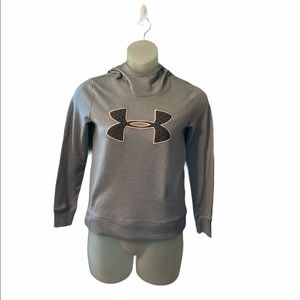 Under Armour Gray Hooded Pullover Sweatshirt XS